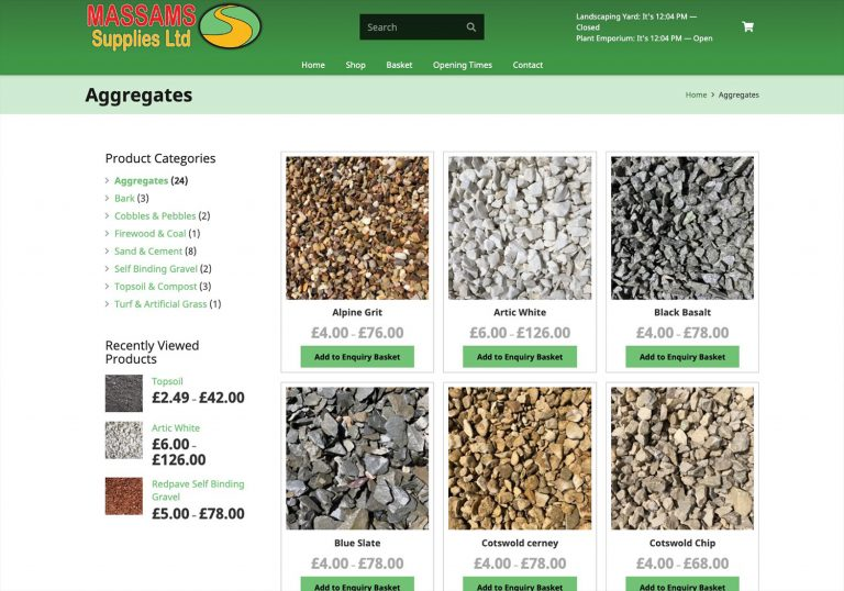 Web Design in Southport for Massams Supplies